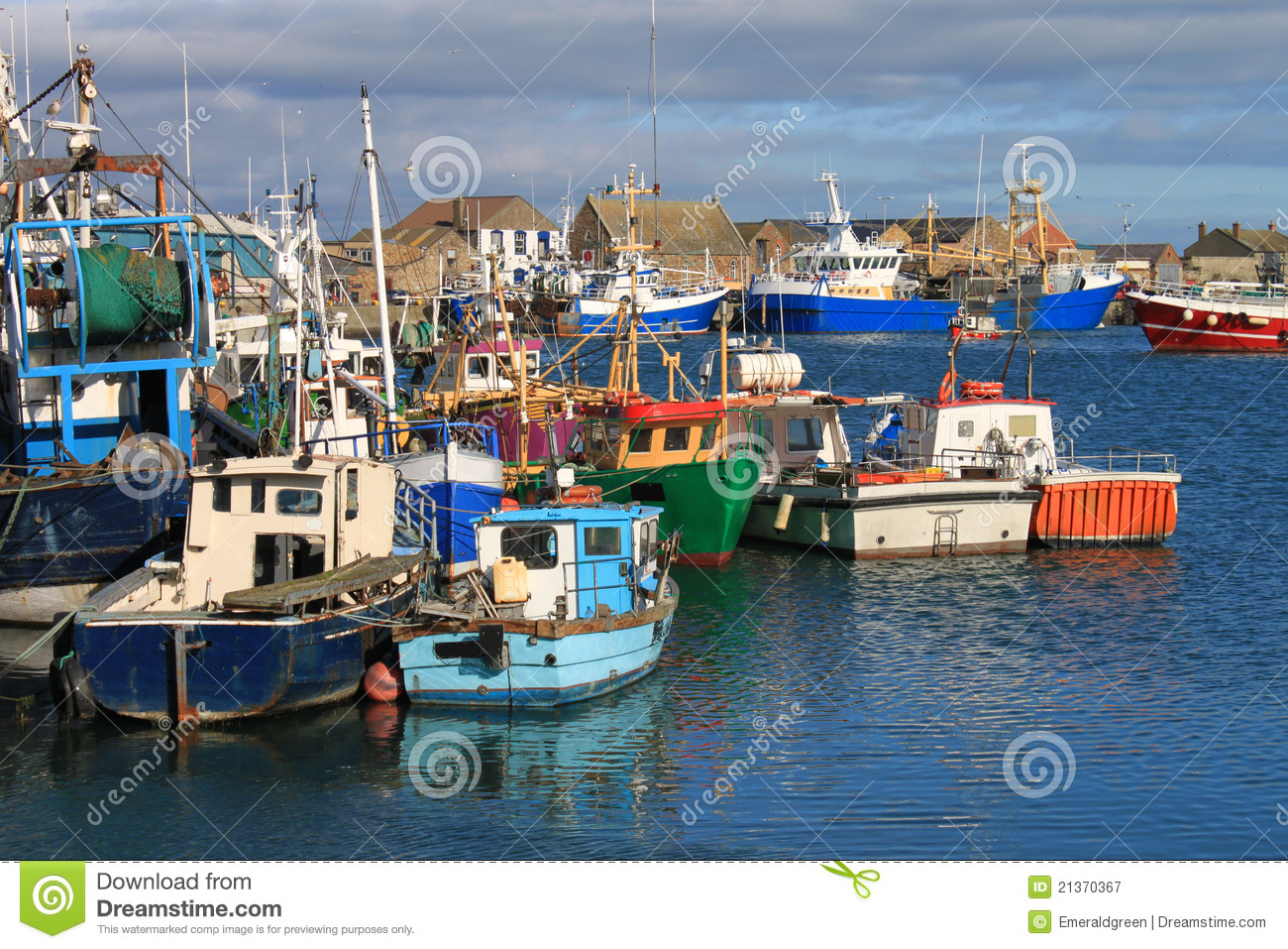 Fishing Boats Howth Harbour Royalty Free Stock Photography.