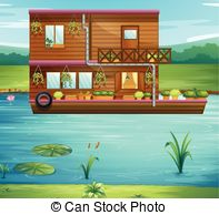 Boathouse Illustrations and Clipart. 23 Boathouse royalty free.