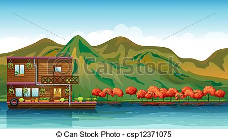 House boat Illustrations and Stock Art. 1,578 House boat.