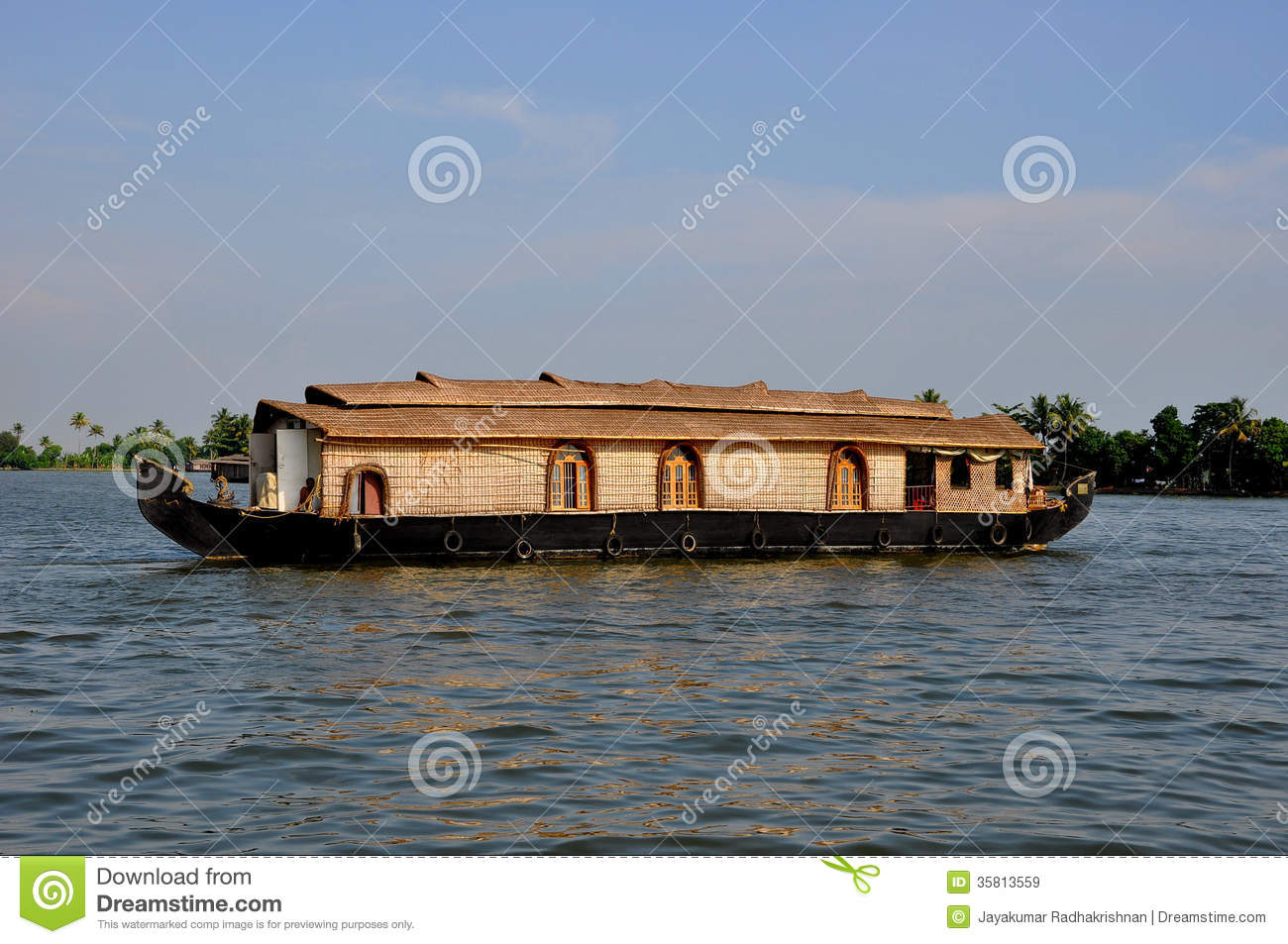 Boat House In India Royalty Free Stock Images.