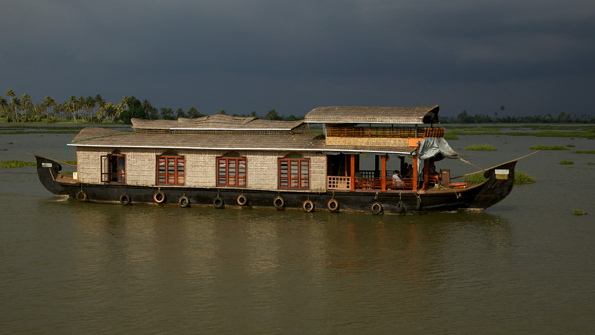 Clip Art of a House Boat.