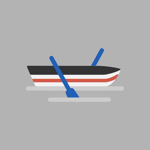 Illustration of boat icon.