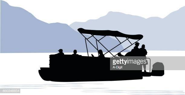 15 Pontoon Boat Stock Illustrations, Clip art, Cartoons & Icons.