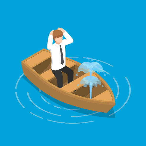 Best Boat Sinking Illustrations, Royalty.
