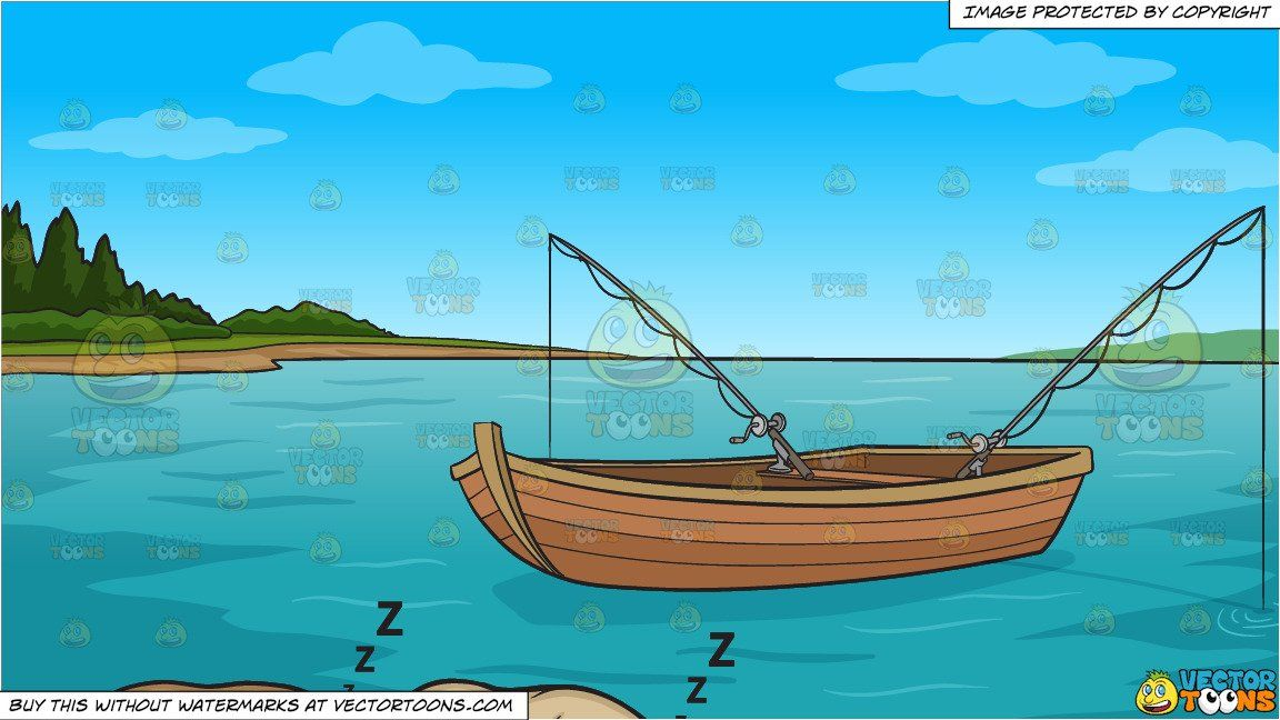 clipart #cartoon Let Sleeping Dogs Lie and Fishing Boat On.