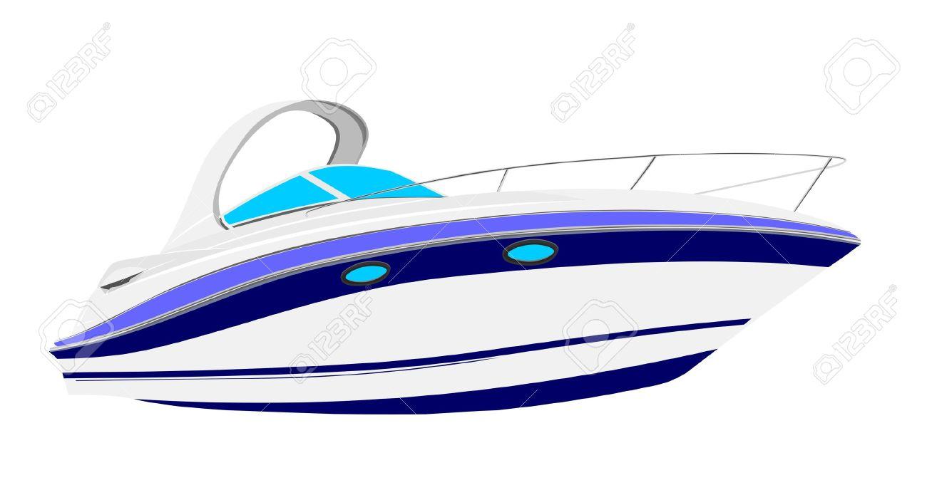 Yacht vector clipart.