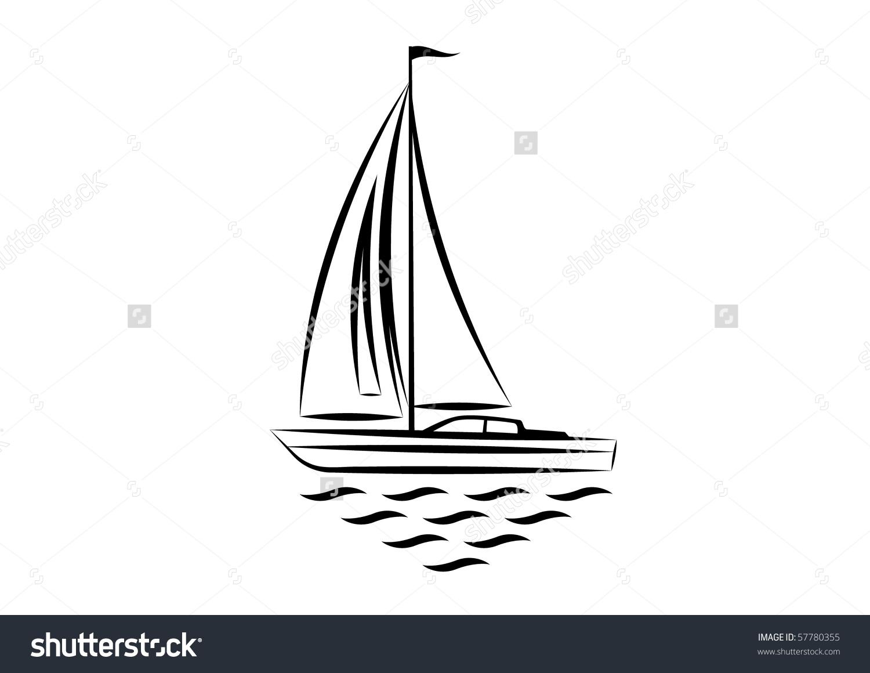 Clipart Sailboat Stock Vector 57780355.