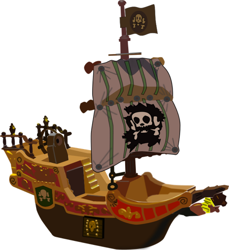 Free Pirate Ship Clipart.