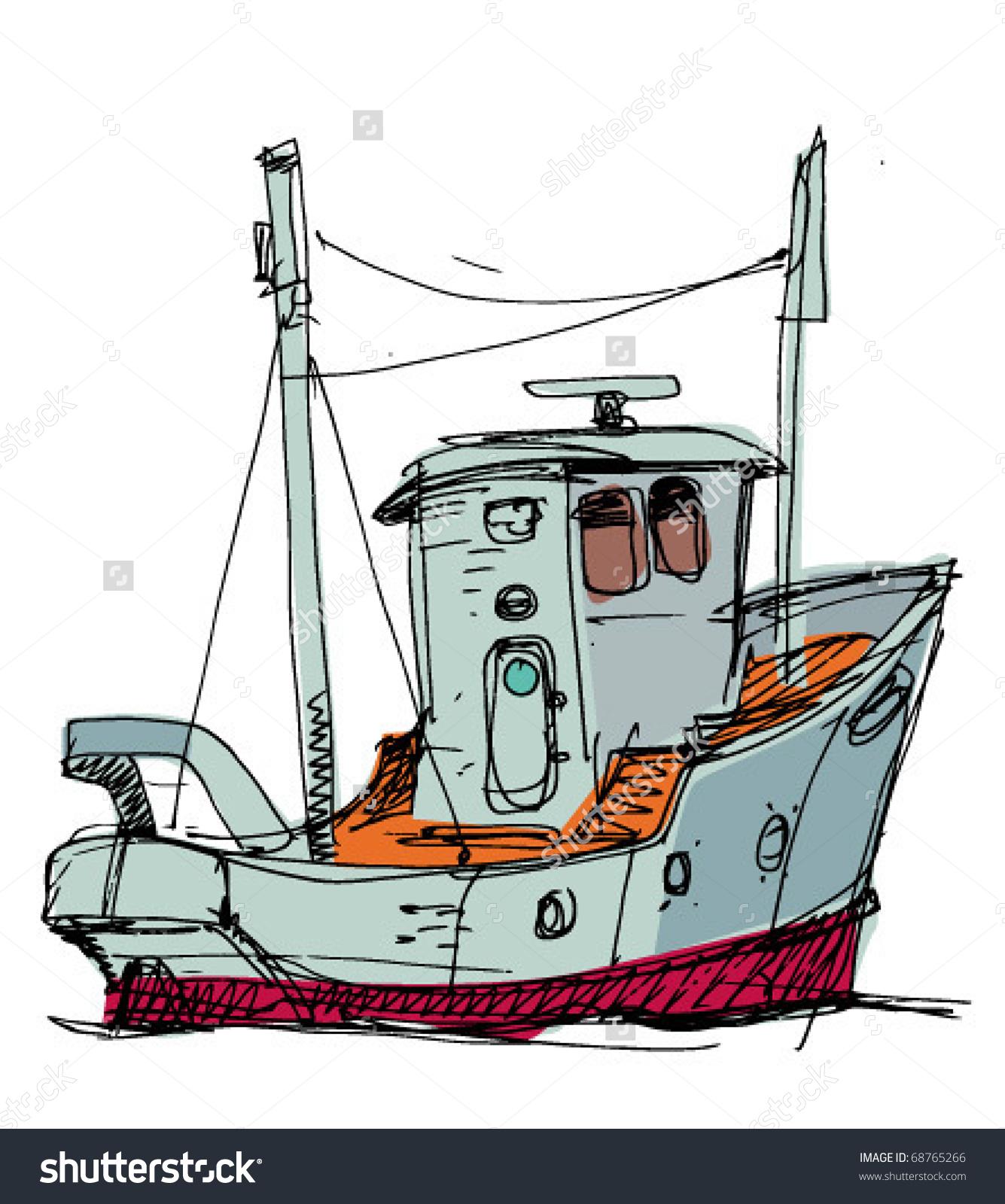 Fish Boat Stock Vector 68765266.