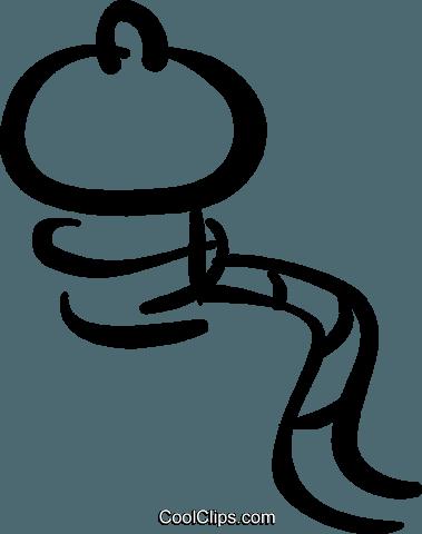 boat mooring Royalty Free Vector Clip Art illustration.