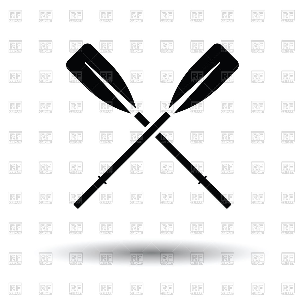 Icon of boat oars Stock Vector Image.