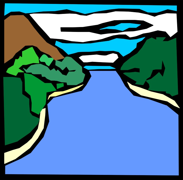 Mountain River Clipart.