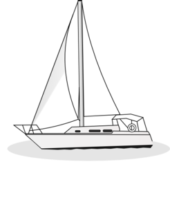 Yacht Outline Clip Art at Clker.com.