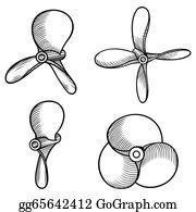 Boat Propeller Clip Art.
