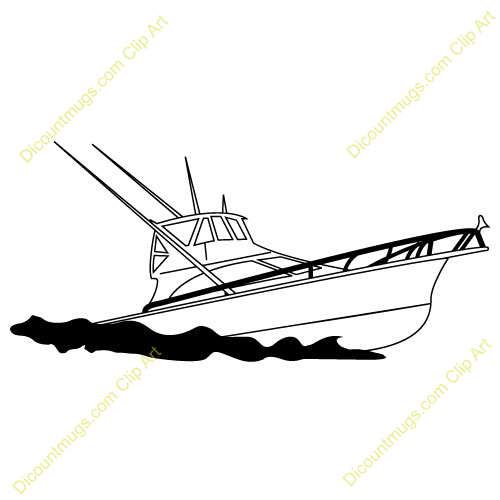 Fishing on a boat clipart.