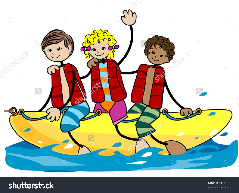 Banana boat clipart.