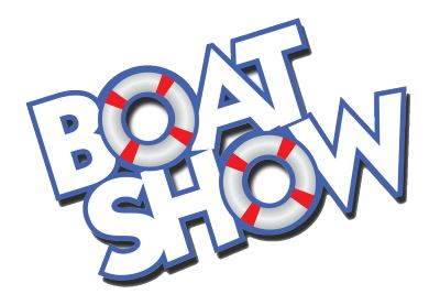 Boat Show Graphics Designs at Lighthouse Harbor Marina.