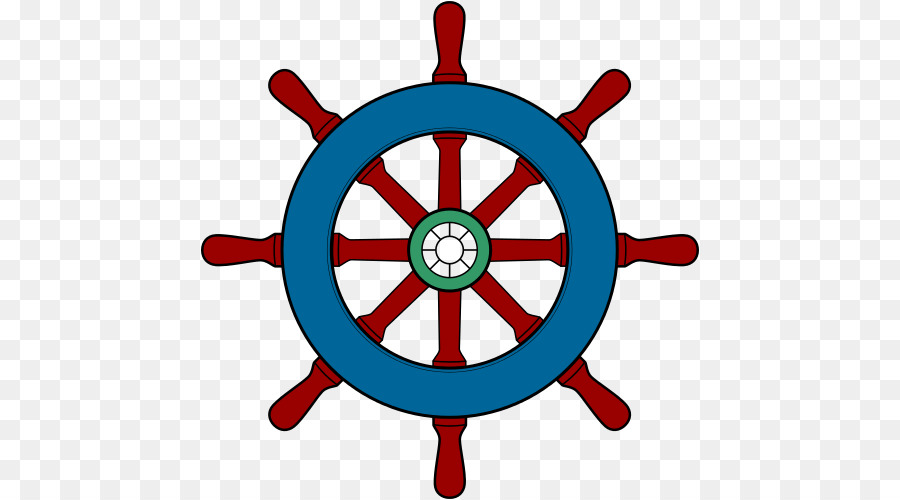 Ship Steering Wheel Background.