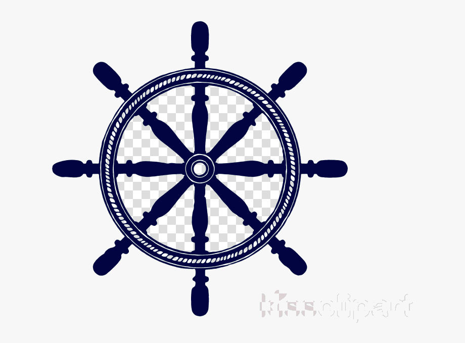 Ship Wheel Rotate Resize Tool Boat Clipart Emblem.