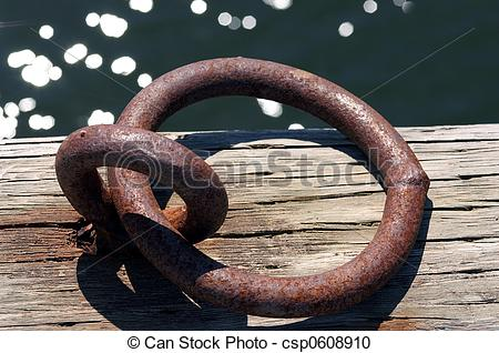 Stock Photography of Rusted Boat Tie Ring.