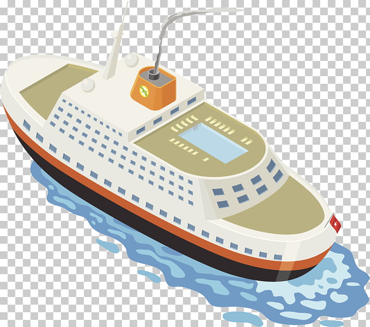 Yacht Ship , Top view angle of ferry PNG clipart.