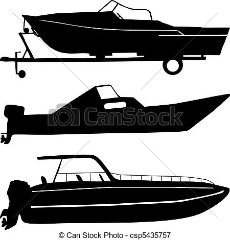 Free clip art of speed boats.