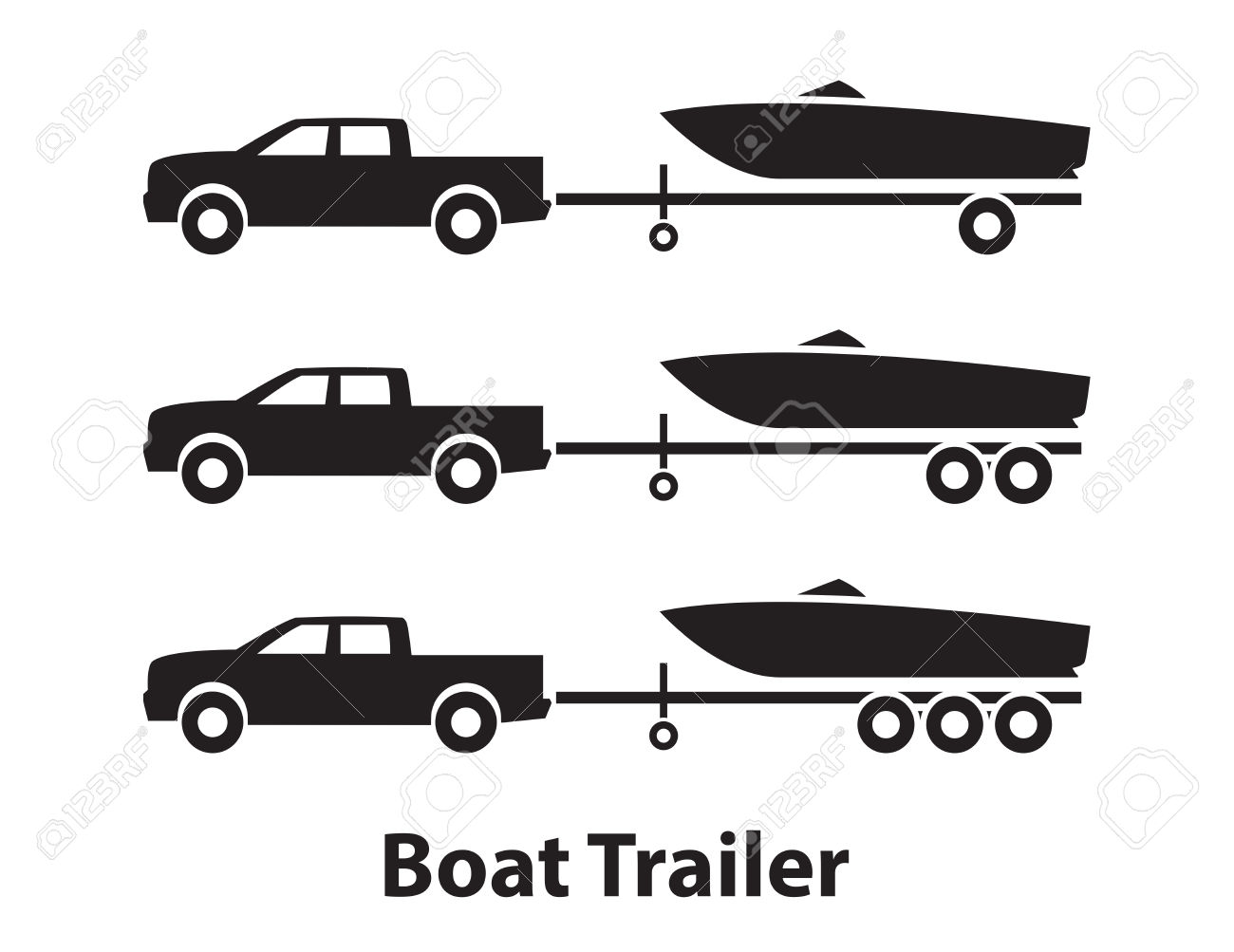 Boat Trailers,symbol Royalty Free Cliparts, Vectors, And Stock.