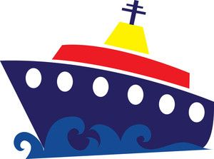 Free Cruise Ship Clip Art Image: clip art illustration of a cruise.