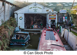 Stock Photography of Boat yard.