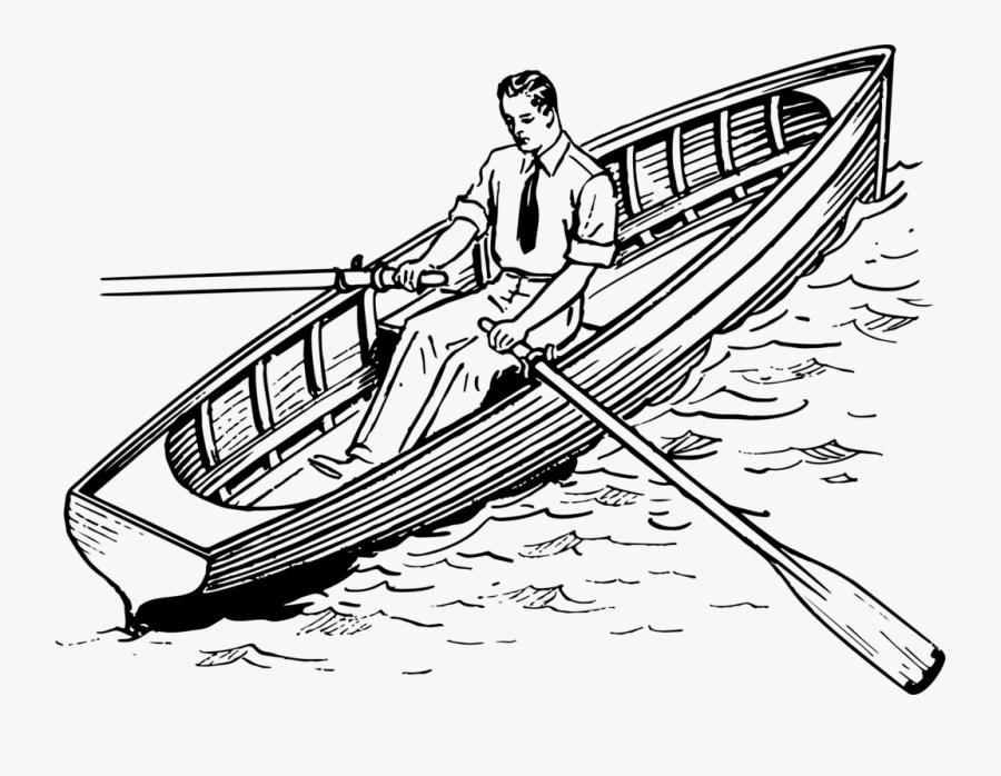 Row Boat Sketch.
