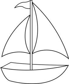 Boat clipart outline, Boat outline Transparent FREE for.