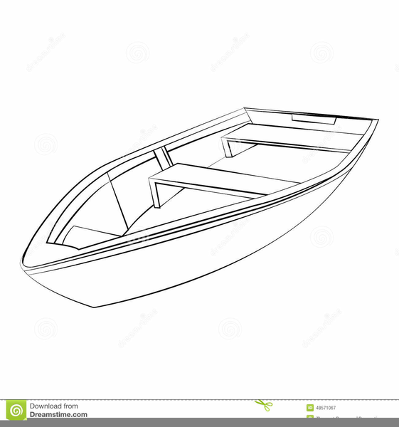 Boat Outline Clipart.