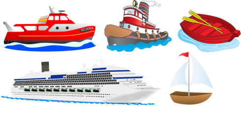 Two boats clipart.
