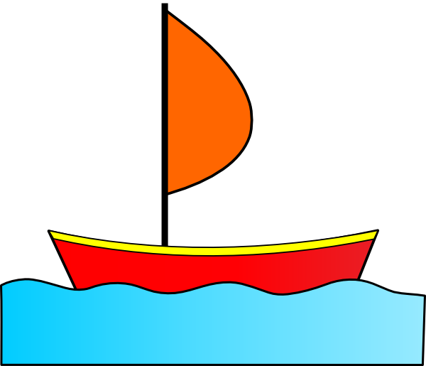 Free clip art images of boats.
