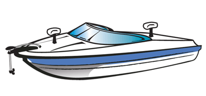 Boating clipart cabin cruiser, Boating cabin cruiser.