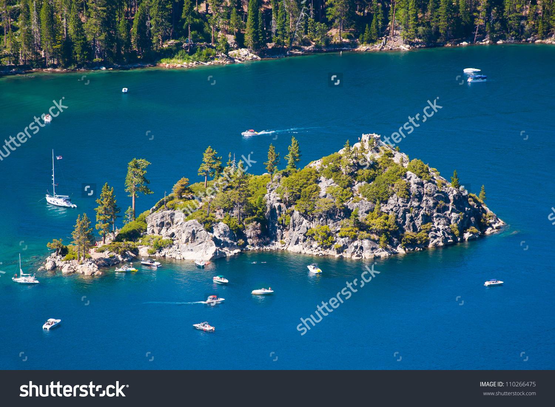 Fannette Island Emerald Bay South Lake Stock Photo 110266475.