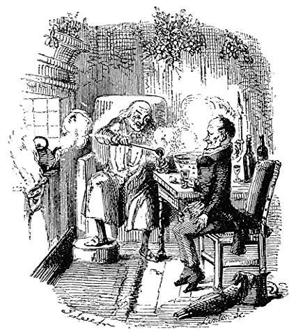 Amazon.com: Dickens Christmas Carol 1843 Ebenezer Scrooge And Bob.