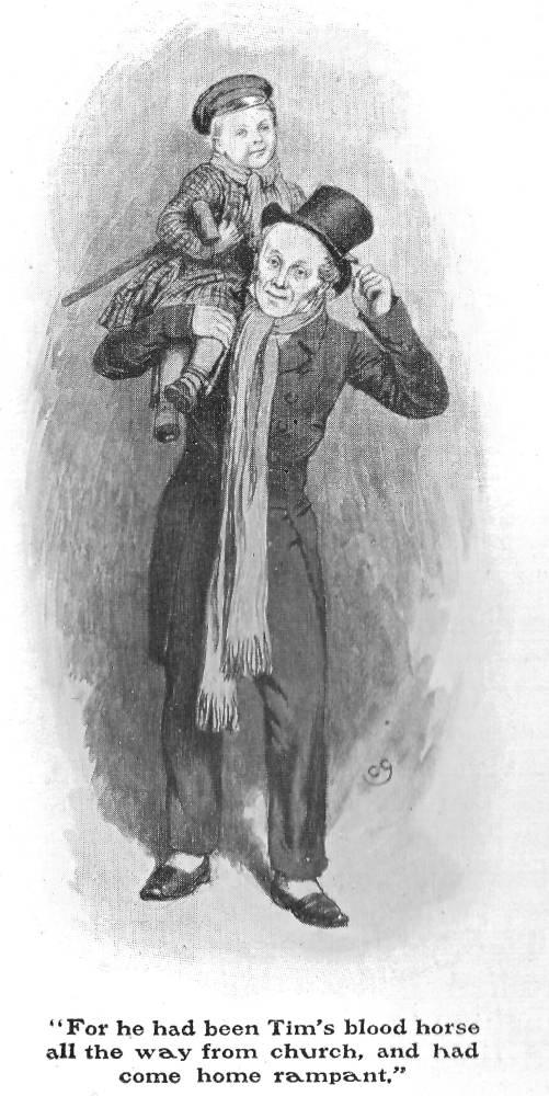 Bob Cratchit and Tiny Tim: