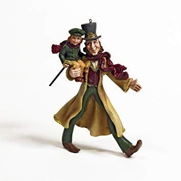 Kurt Adler Bob Cratchit and Tiny Tim Resin Ornament.