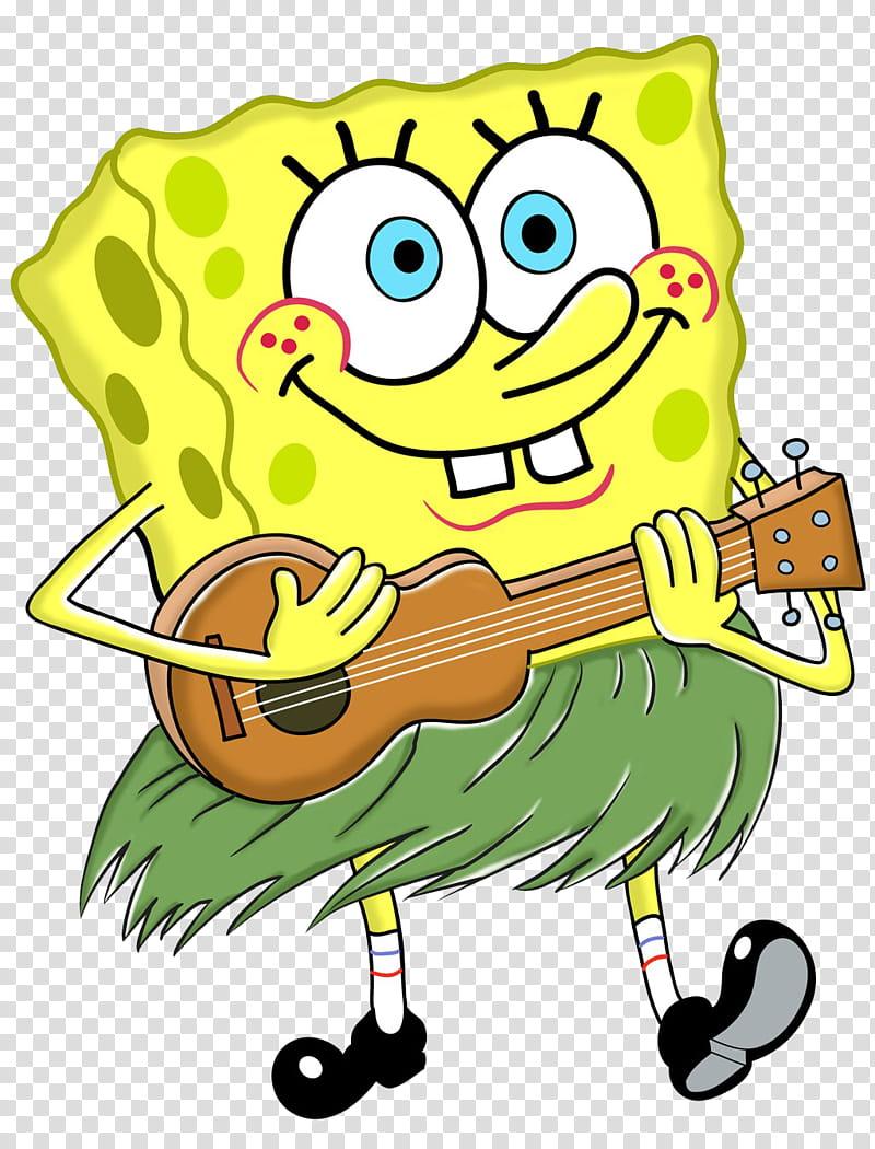 Bob Esponja, Spongebob playing guitar illustration.