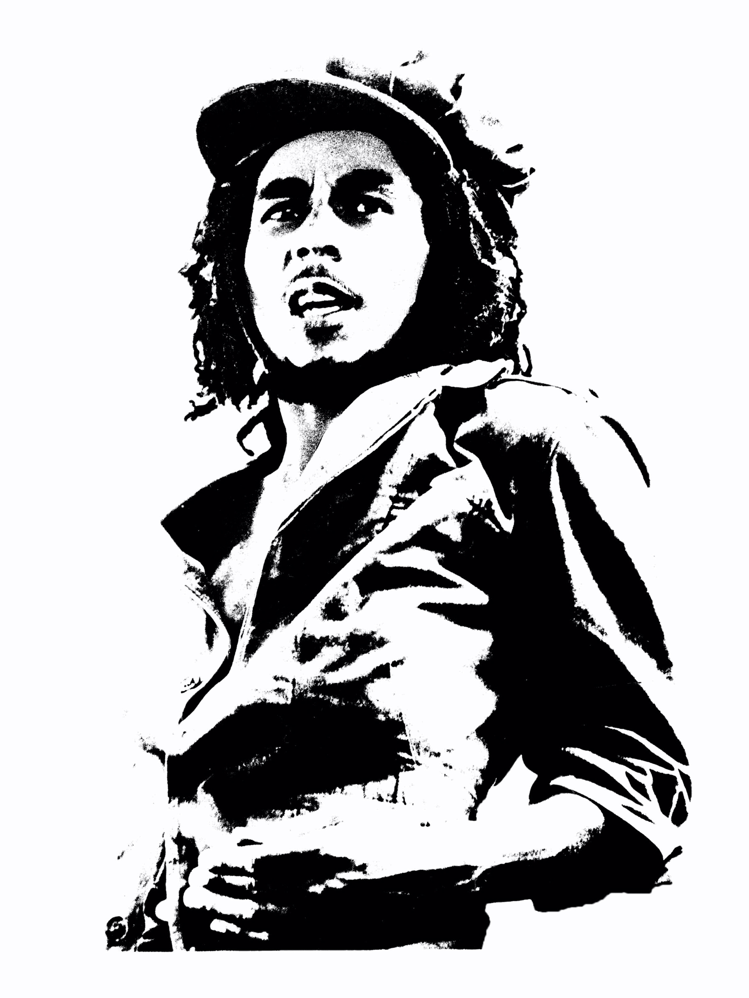 Create Wall Graffiti Bob Marley.
