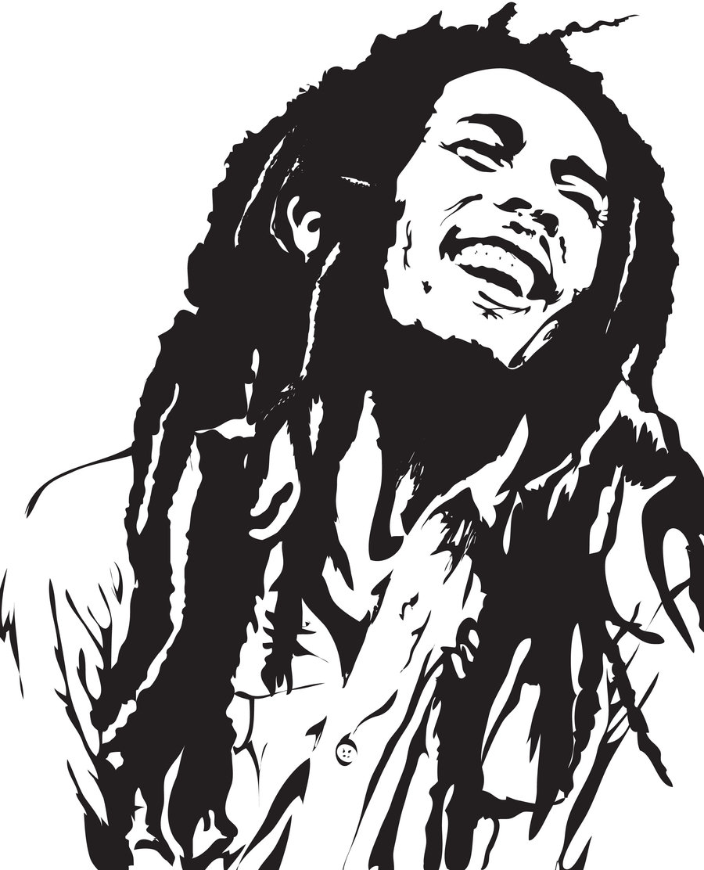 Bob marley reggae clipart.