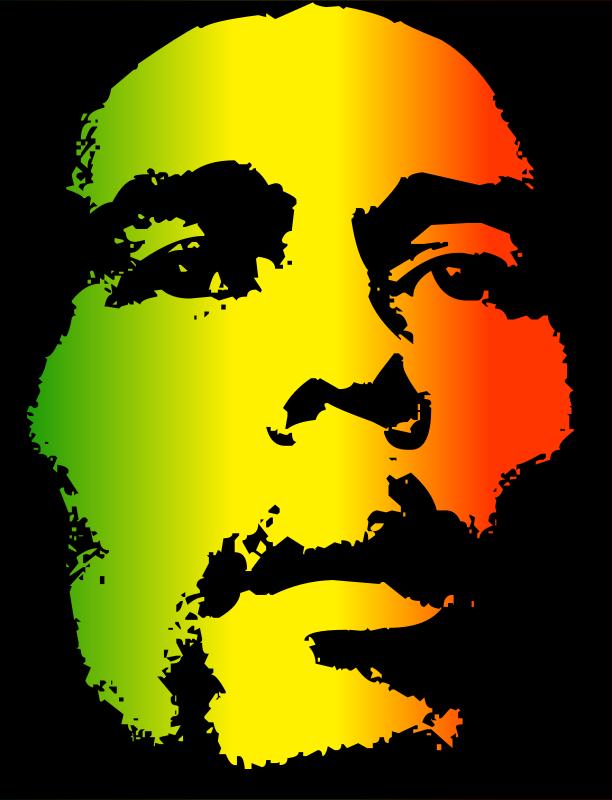 Free Clipart: Bob Marley.