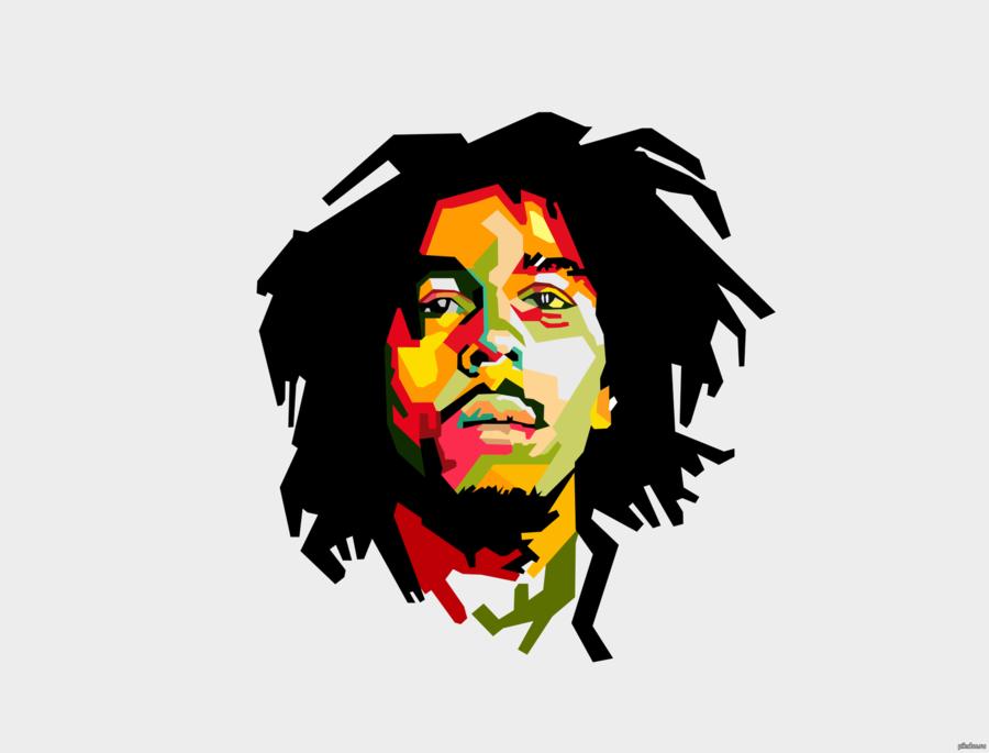 Bob Marley clipart.