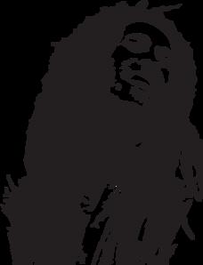 Bob Marley Portrait clip art.