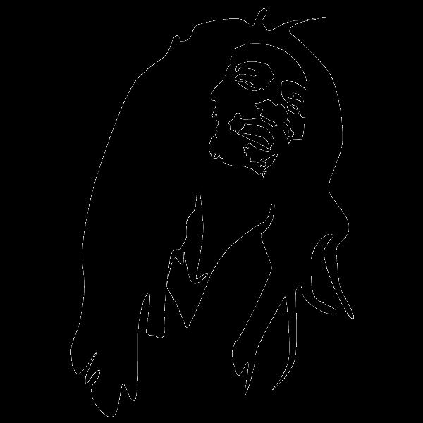 Bob Marley Stencil Nine Mile Reggae Drawing.