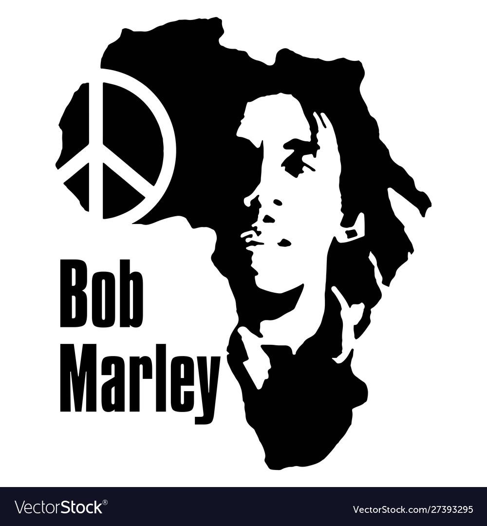 Bob marley peace vector image.
