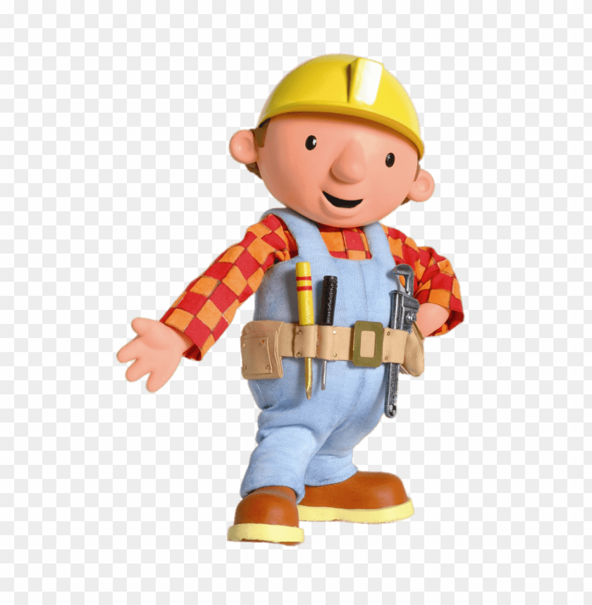 Download old bob the builder wearing tool belt clipart png photo.