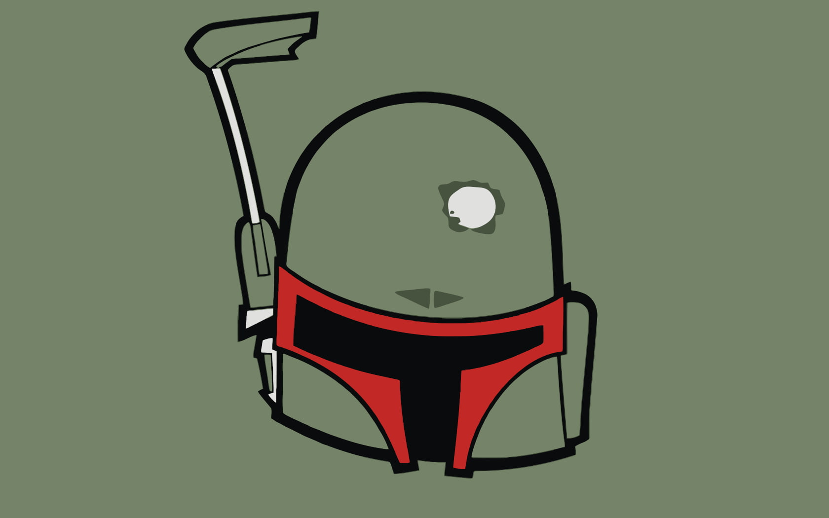 Boba Fett helmet clip art HD wallpaper.