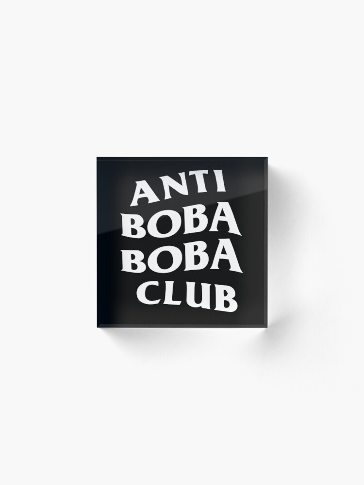 Anti Boba Boba Club White Logo.